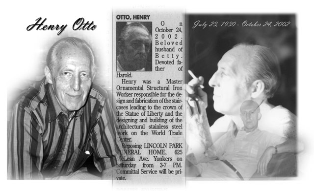 In Loving Memory of Henry Otto.  Dear Father & Loving Husband.  Click to Continue.